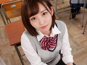 【七嶋舞】制服美少女と完全主観SEX!パイパンのマ●コに…ニュプリ挿入!!